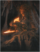 THE BALROG - BANE OF DURIN - ORIGINAL PAINTING ART