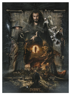 the hobbit an unexpected journey the hobbit the desolation of smaug paper giclee
