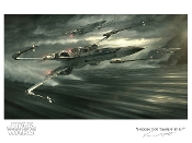 "Star Wars "" Incoming T-70 Tearin' It Up"" Artist proof lithograph"