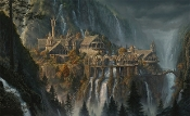 Rivendell: The Lord of the Rings Canvas Giclee