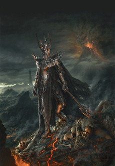 THE LORD OF THE RINGS - SAURON ORIGINAL PAINTING