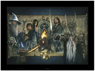 THE LORD OF THE RINGS- FELLOWSHIP OF THE RING ORIGINAL PAINTING