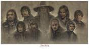 "LOTR- ""The Company of the Ring shall be Nine"" Montage Giclee"