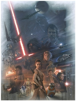2016 Star Wars - The Force Awakens painting / celebration Europe