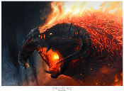 Flame of Udun - The Balrog Giclee