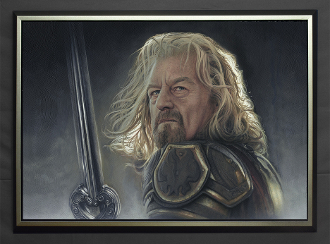 Theoden:FOR DEATH AND GLORY FRAMED Giclee