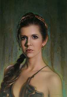 "Princess Leia - ""Fearless"" ARTIST PROOF Canvas Giclee"