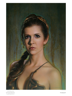 "Princess Leia ""Fearless""  paper giclee"