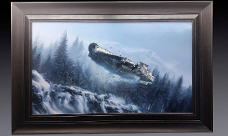 "Star Wars -Millennium Falcon - ""She's Still Got it"" painting"