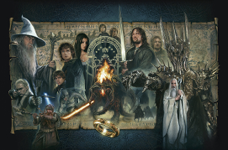 The Fellowship of the Ring - PAPER GICLEE