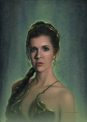 "Princess Leia ""Fearless"" Embellished Canvas Original"